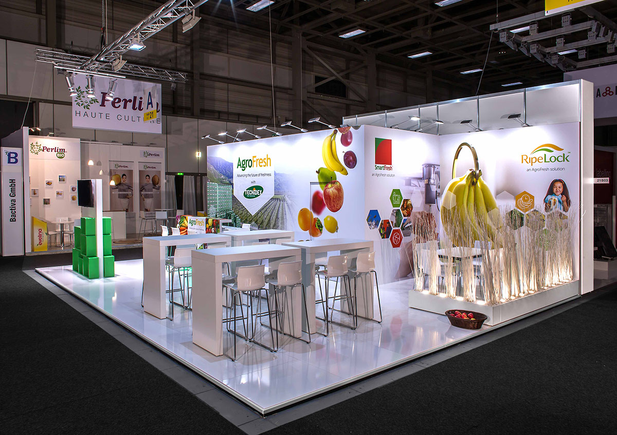 SEA Fruit Logistica - Messebau & Messedesign - Messe SEA 2019 in Berlin - Messestand Beispiel