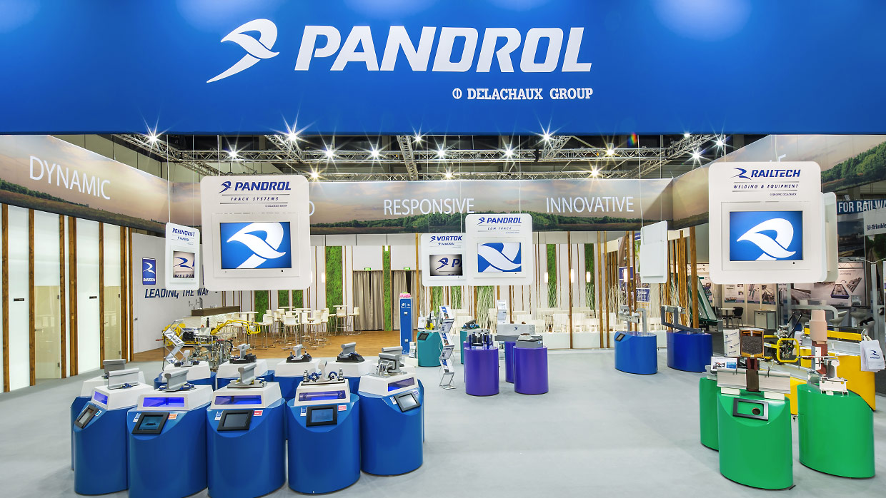 Messestand Pandrol InnoTrans 2